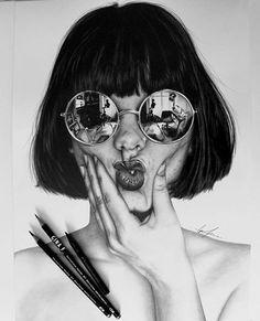 ♥︎f̶o̶r̶ i̶n̶ d̶r̶e̶a̶m̶s̶ w̶e̶ e̶n̶t̶e̶r̶ a̶ w̶o̶r̶l̶d̶ t̶h̶a̶t̶s̶ e̶n̶t̶i̶r̶e̶l̶y̶ o̶u̶r̶ o̶w̶n̶♥︎ Discover The Secrets Of Drawing Realistic Pencil Portraits. pencil-portrait-m. Pencil Art Drawings, Realistic Drawings, Art Drawings Sketches, Sketch Art, Portrait Au Crayon, Pencil Portrait, Portrait Art, Drawing People, Painting & Drawing