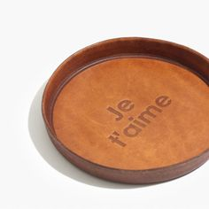 je t'aime leather tray.