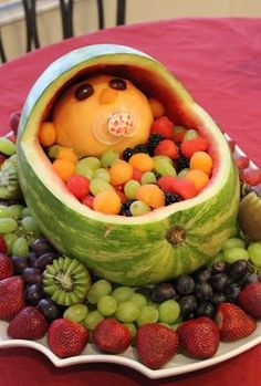 The Perfect Baby Shower Fruit Salad