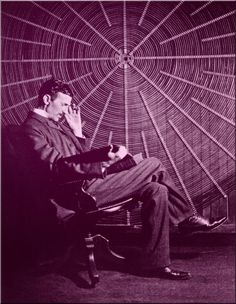 """Nikola Tesla with the """"Tesla Wheel."""" 2006 is the Nikola Tesla year in his native Croatia. A number of countries have issued postage stamps and bank notes with Tesla portraits and images of his electrical devices to memorize his great scientific contributi Tesla Coil, Tesla S, Friedrich Dürrenmatt, Nikola Tesla Quotes, Nicola Tesla, Tesla Inventions, Houston Street, Interview, Portrait"""