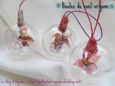 Jolies boules de noël origami • Hellocoton.fr Theme Noel, Blog, Art Plastique, Christmas Ornaments, Holiday Decor, Scrap, Christmas Decorating Ideas, Creative Crafts, Christmas Jewelry