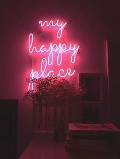 My Happy Place Real Glass Neon Sign For Bedroom Garage Bar Man Cave Room Home Decor Handmade Artwork Wall Lighting Includes Dimmer - Most creative decoration list Neon Lights Bedroom, Neon Sign Bedroom, Bedroom Lighting, Bedroom Wall, Bedroom Decor, Modern Bedroom, Bedroom Artwork, Contemporary Bedroom, Master Bedroom