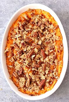 The Best Easy Sweet Potato Casserole Recipe - classic Thanksgiving holiday side dish made easy! The praline topping is irresistible!