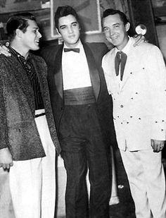 December 1957 Ryman Auditorium Nashville, TN Gordon Terry, Elvis Presley and Ray Price