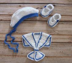 Baby Sailor Dress Set Crochet newborn Baby Girl Dress Set Knit newborn baby girl Sailor Outfit Knit Baby Girl Dress Set Preemie Sailor Dress – Nombres de bebés y ropa de bebé. Newborn Crochet Patterns, Crochet Baby Dress Pattern, Baby Dress Patterns, Baby Girl Crochet, Crochet For Kids, Knitting Patterns, Baby Bikini, Sailor Outfits, Sailor Dress