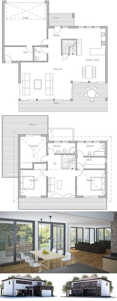 Modern Home with open planning, three bedrooms, covered terrace, two living areas.