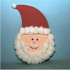 I remember making these out of paper plates and used felt for his hat and of course cotton balls for his billowing beard.