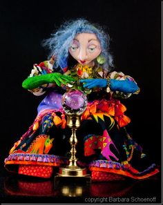 """Artistic Figures In Cloth & Clay (AFICC): """"Over the Top"""" with Barbara Schoenoff Gypsy Decor, Over The Top, Belly Dancers, Doll Crafts, Stop Motion, Craft Patterns, Crystal Ball, Creative Art, Art Dolls"""