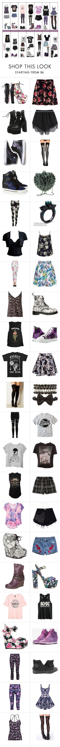 """""""daughter of persephone Style ideas"""" by shadowsweety on Polyvore featuring moda, Iron Fist, River Island, WithChic, Keds, Chicnova Fashion, Marc by Marc Jacobs, Dolce Vita, Genny by Gianni Versace y Dorothy Perkins"""