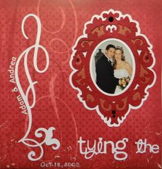 Wedding Scrapbook Page with a Frame from Cricut's Reminisce