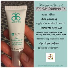 The many uses of #Arbonne \'s FC5 Skin Conditioning Oil  ID#22815960 http://kristenfrank.arbonne.com
