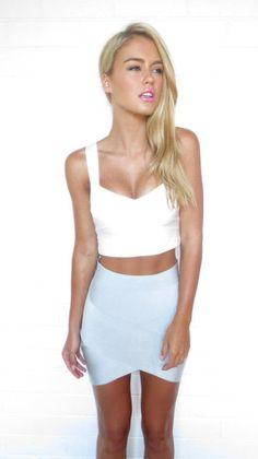 RED Lime Silver Bandage Mini Skirt Harpers Dress S 8 10 M Forever ...