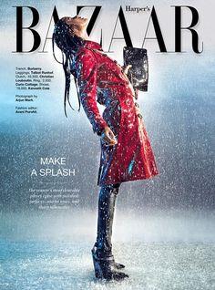 Rain Fashion, Fashion Shoot, Editorial Fashion, Rain Photography, Creative Photography, Editorial Photography, Fashion Cover, Fashion Photography Inspiration, Model Look