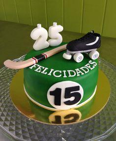 Pastel de fondant Hockey patines Hockey Birthday Cake, Hockey Cakes, Cake Decorating Videos, Fondant Cakes, Wedding Cakes, Babe, Projects To Try, Soccer, Cookies