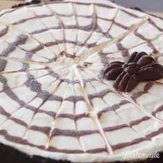 , Cheesecake Ganache, Spiderweb Cheesecake, Halloween Cheesecake ...
