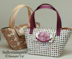 Candle Handbag Gift. Share What You Love DSP made into a handbag. Independent Stampin' Up!® Demonstrator UK.