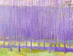 """""""Northern Pines"""" oil on canvas by Wolf Kahn, 1996. Jerald Melberg Gallery."""