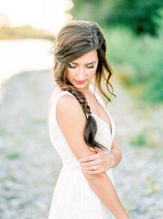 Braided Hairstyles Part 4 - Wedding Hair - Trendy Bride Magazine Side Braid Hairstyles, Wedding Hairstyles For Long Hair, Bride Hairstyles, Beach Hairstyles, Bridal Beauty, Bridal Hair, Bridesmaid Hair, Braid Styles, Hair Trends
