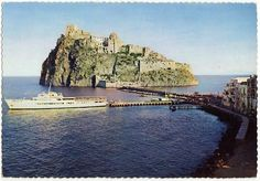 Once upon a time...ferry moored in Ischia Ponte...