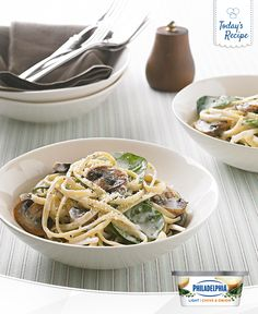 Maybe one day you'll be able to go inside your computer and take a bite out of this Silky Mushroom Linguine. Until then...here's the recipe.