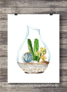 Cacti terrarium art print | Watercolor cactus | Hand painted watercolor cactus | cosy decor Printable wall art 16x20 print, easily reduced to 8x10. MADE WITH LOVE ♥ Buy 2 get 1 free! Coupon code: FREEBIE ____________________________ Print as many times as you like, fine for personal and small commercial use. -------------------------------------------------------------------------------------- After payment is confirmed you will be taken to the download page, and an email will be sent to...