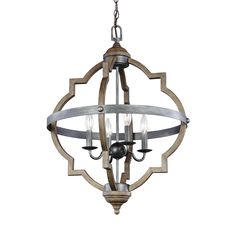 The transitional Socorro lighting collection by Sea Gull Lighting features a classic, barbed Quatrefoil profile - wholly updated by combining a distressed Cerused Oak finish