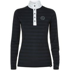 Kingsland Long Sleeved Shirt (€125) ❤ liked on Polyvore featuring activewear, activewear tops, equestrian shirts, long sleeve shirts, horizontal stripe shirt, horizontal striped shirt and kingsland