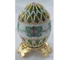 """Easter Morning"" Beaded Egg"