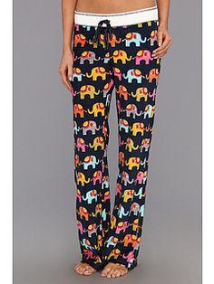 P.J. Salvage Elephant Walk Velour Thermal Pajama Pant