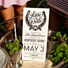 Invitation inspiration for your Kentucky Derby Party - Tune in to the race May 3, 2014 on NBC #KentuckyDerby #invitations #KentuckyDerbyParty http://www.nbcsports.com/kentucky-derby-all-access
