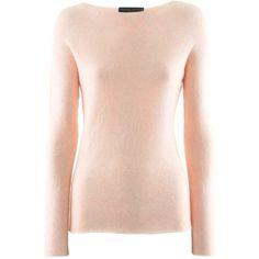 Fabiana Filippi Rose Light Cashmere Pullover ($365) ❤ liked on Polyvore