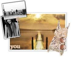 """""""all you need at the beach{you, dress, sunglasses}"""" by luvsfashionchic ❤ liked on Polyvore"""