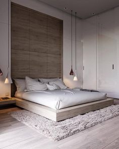 44 Stunning Minimalist Modern Master Bedroom Design Best Ideas is part of Minimalist bedroom design - Would you like to design the perfect modern master bedroom Do you find that you have plenty of space to […] Modern Bedroom Design, Master Bedroom Design, Contemporary Bedroom, Dream Bedroom, Home Decor Bedroom, Bedroom Inspo, Modern Bedrooms, Diy Bedroom, Bedroom Loft
