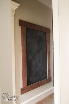 - Shanty 2 Chic - chrySSa-home-decor-ideas Framed Chalkboard Walls, Kitchen Chalkboard, Chalk Wall, Chalkboard Paint, Chalk Board Diy, Chalkboard Wall Playroom, Home Decor Chalkboard, Magnetic Chalkboard, Chalk Paint