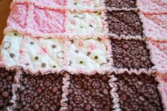 How to make a Baby Rag Quilt Tutorial by Creations by Kara.  SUPER easy instructions.