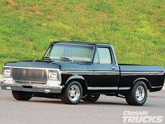 One Last Ride - ford, truck, black, classic 1979 Ford Truck, Old Ford Trucks, Lifted Chevy Trucks, Pickup Trucks, F100 Truck, Ford 4x4, Chevrolet Trucks, Ford Ranger, Classic Trucks Magazine