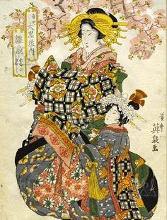 Geishas wearing combs  http://www.pinterest.com/Sampry/japanese-prints-paintings-2-the-ladies/