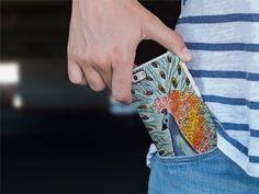 Handrawn peacock pattern phone case by allgirls. #case #accessories #tech #handdrawn