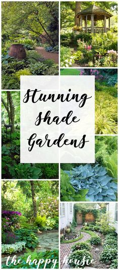 Have a shady spot in your yard? You will love these stunning and inspiring shade gardens and find some fantastic plant suggestions for shady spaces. #Flowers