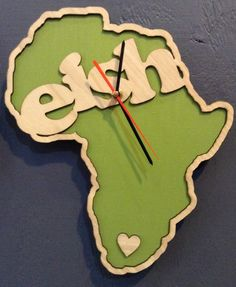 Whats Cutting Design Studio, Laser cut clock, Africa, Eish Woods Equipment, Wall Watch, Laser Art, Modern Clock, Christmas In July, Some Ideas, Laser Cutting, Projects To Try, Wooden Products