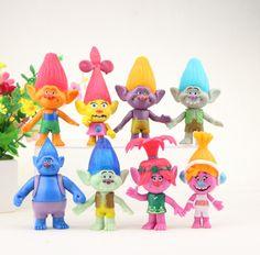 8Pcs/set DreamWorks Trolls PVC Action Figures Trolls Doll Toys For Kids