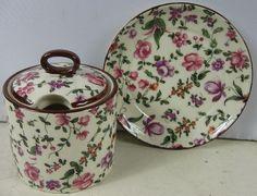 Nice Vintage Erphila Czechoslovakia Oxford Condiment Sugar Bowl