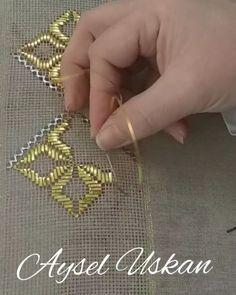 Nine Flower Sampler 1 - Edmar kit Brazilian embroidery KIT, Cream Fabric - Embroidery Design Guide Hardanger Embroidery, Gold Embroidery, Hand Embroidery Stitches, Embroidery Fashion, Embroidery Patterns, Crochet Patterns, Motifs Bargello, Broderie Bargello, Needlepoint Stitches