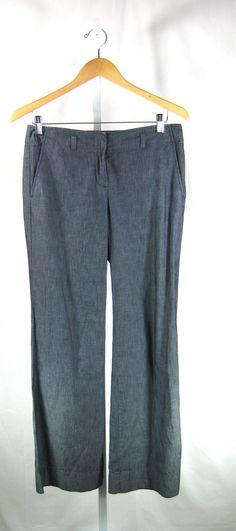 J CREW Blue Lightweight Cotton Denim City Fit Pant Size 2 Inseam 32 #JCrew #CasualPants