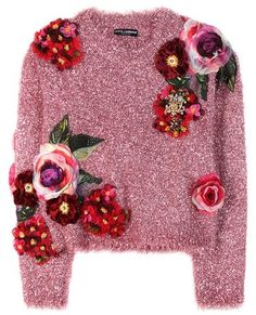 Dolce & Gabbana Metallic Sweater With Appliqué