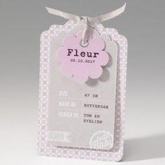 Belarto Baby Dreams -  geboortekaartje cute baby label roze