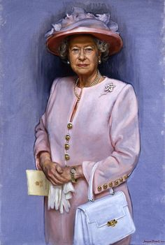 Queen Elizabeth II New Portrait | This portrait of Britain's Queen Elizabeth II, by artist Jemma Phipps ...