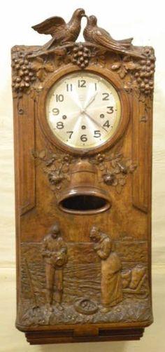 Antique Westminster Clock - Millet L'Angelus Scene : Lot 92