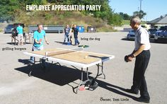 We love celebrating here at ServiceMaster of Kalamazoo. We have cookouts and pancake breakfasts. Families of employees are welcome. We have many games set up, and lots to do while enjoying the company of all the people you work.