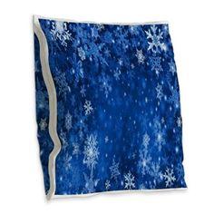Snowflakes_Background_Texture Burlap Throw Pillow